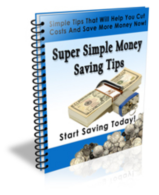 Product picture Super Simple Money Saving Tips